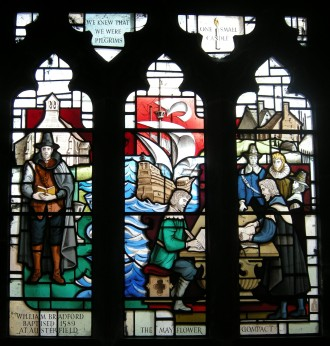 Austerfield Church Mayflower Pilgrim window