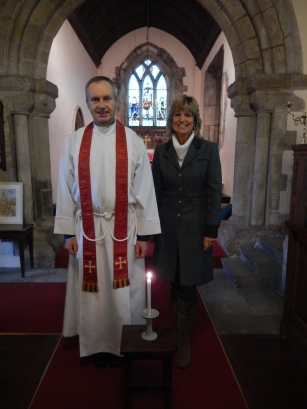 Austerfield Church candle lighting service