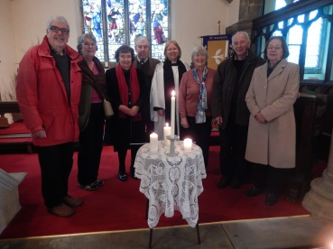 Scrooby Church's candle lighting service