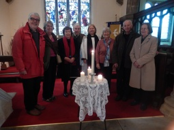Scrooby's candle lighting service