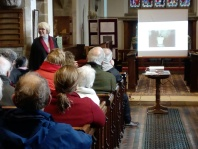 Maggy Watkins giving talk at Babworth Church