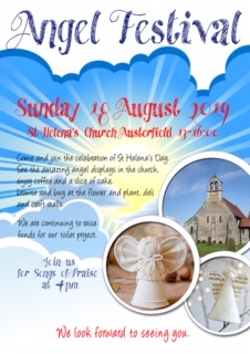 Austerfield Angel Festival flyer front A4