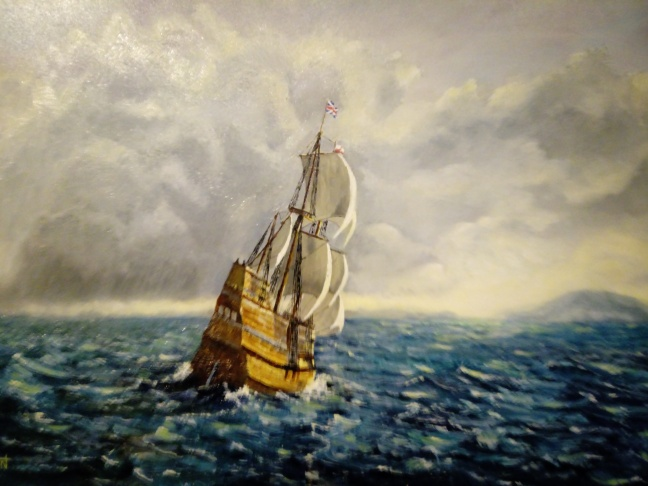 Mayflower painting by Gerry Fruin